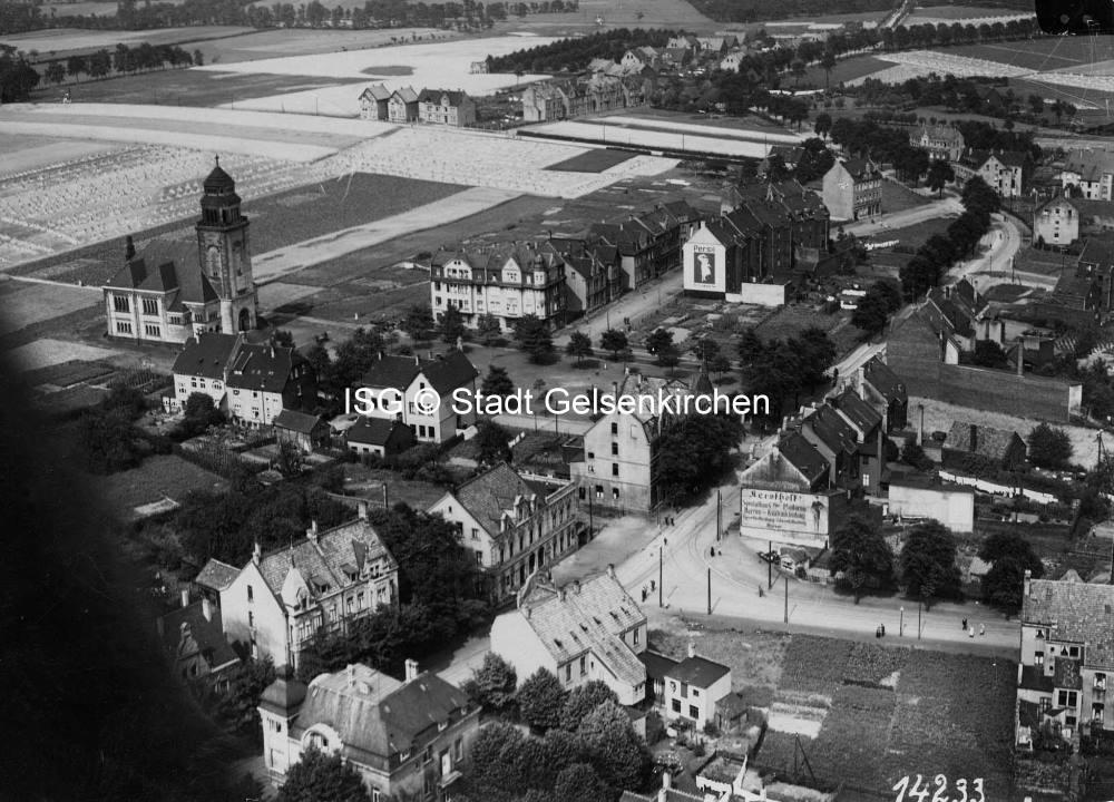 ev. Paulus Kirche, Marktplatz, Hertener Straße // FS I 00107 ISG © Stadt Gelsenkirchen