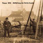 Teufen der Zeche Ewald 1910 Foto: Bergbausammlung Rotthausen